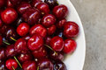 Ripe cherries image of red Stock Images