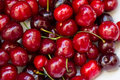 Ripe cherries image of red Royalty Free Stock Image