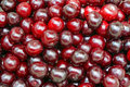Ripe cherry closeup as background Stock Photo
