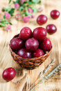 Ripe cherry plum Stock Photos