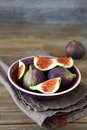 Ripe figs in a bowl healthy food Royalty Free Stock Photo