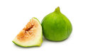 Ripe figs isolated on white background Royalty Free Stock Photo