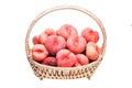 Ripe flat peaches Royalty Free Stock Photo