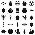 Ripe food icons set, simple style Royalty Free Stock Photo