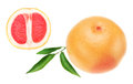 Ripe grapefruit, orange in the cut. Royalty Free Stock Image