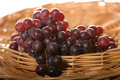 Ripe grapes in basket Royalty Free Stock Images