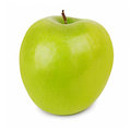 Ripe green apple isolated on white background Stock Photos