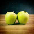 Ripe green apples Stock Photo