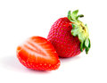 Ripe, juicy, beautiful strawberry close-up Royalty Free Stock Photo