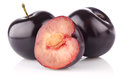 Ripe juicy plum Royalty Free Stock Image