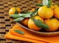 Ripe juicy tangerine, orange mandarin Royalty Free Stock Photography