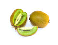 Ripe kiwi on white Royalty Free Stock Photo