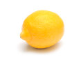 Ripe lemon juicy on white background Stock Images