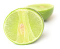 Ripe lime fresh isolated on white background Royalty Free Stock Images