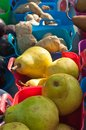 Ripe, local pears for sale at a tropical farmers market Royalty Free Stock Photo