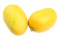 Ripe mango mangos over white background Royalty Free Stock Photo