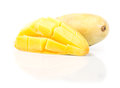Ripe mango on white background Royalty Free Stock Image