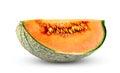 Ripe melon cantaloupe fresh juicy slice isolated on white background Royalty Free Stock Image