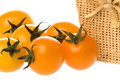 Ripe orange cherry tomatoes Stock Image