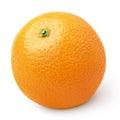 Ripe orange citrus fruit isolated on white single with clipping path Royalty Free Stock Photo