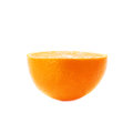 Ripe orange cut in half isolated over the white Royalty Free Stock Photo