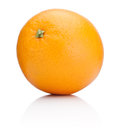 Ripe Orange fruit isolated on white background Royalty Free Stock Photography