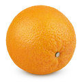 Ripe orange fruit isolated on white with clipping path Royalty Free Stock Image