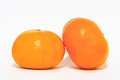 Ripe orange on white background Royalty Free Stock Photography