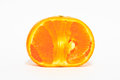 Ripe orange on white background Stock Images