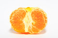 Ripe orange on white background Stock Photos