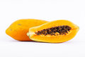 Ripe papaya is healthy fruit it rich in vitamins and helps in the excretion Stock Photography