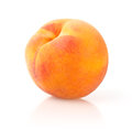 Ripe peach on white background Stock Photo
