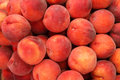 Ripe peaches pattern texture fruit market background Royalty Free Stock Images
