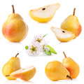 Ripe pear isolated on white background Stock Photography