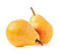 Ripe pear isolated on white background Royalty Free Stock Image