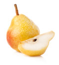 Ripe pear isolated on white background Stock Photo