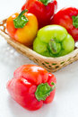 Ripe peppers Stock Image