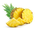 Ripe pineapple with slices Royalty Free Stock Photo