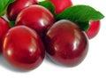 Ripe plum,isolated on white Royalty Free Stock Image