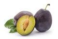 Ripe plums.