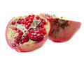 Ripe pomegranate fruit isolated on white background Stock Image