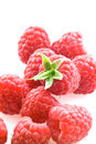 Ripe raspberry isolated on a white background Royalty Free Stock Photos