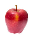 Ripe red apple isolated on the white background. Royalty Free Stock Photography