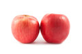 Ripe red apple isolated on white background cutout Royalty Free Stock Image
