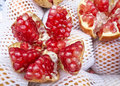 Ripe red pomegranate seeds Royalty Free Stock Photo