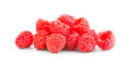 Ripe red raspberry isolated on white background Stock Photography