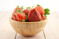 Ripe red strawberries in a bowl Stock Photos