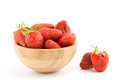 Ripe red strawberries in a bowl Stock Image