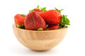 Ripe red strawberries in a bowl Royalty Free Stock Photos
