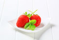 Ripe red strawberries Royalty Free Stock Photo